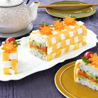 パウンド型を使って♪編みこみ寿司