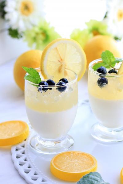 カルピスレモンのミルクゼリー