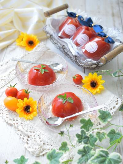 トマトとオレンジのゼリー