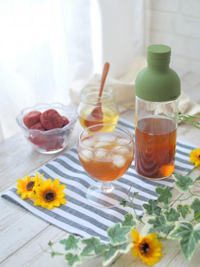 暑い日に★蜂蜜&梅の麦茶