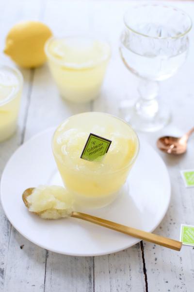 ひんやりレモンのグラスゼリー