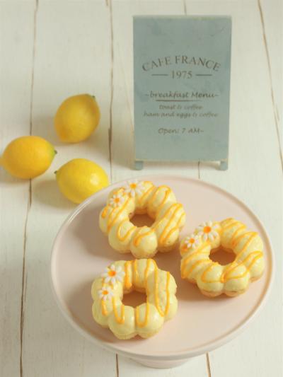 * 爽やか ♡ はちみつレモンの生ドーナツ♪