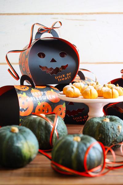 かぼちゃのスノーボールのラッピング