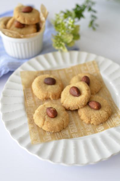 玄米粉でほろほろアーモンドクッキー