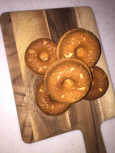 シンプル☆米粉クリームチーズ焼きドーナツ