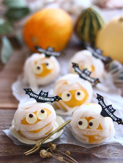 ミイラ男のかぼちゃクリーム大福