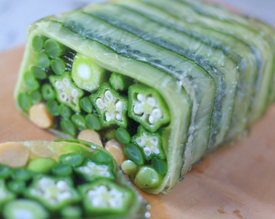 夏野菜のゼリー寄せ