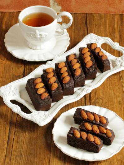 * ギルトフリースイーツ ♡ 玄米粉のチョコバナナケーキ♪