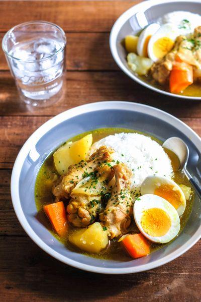 ゴロゴロ野菜と手羽元のスープカリー