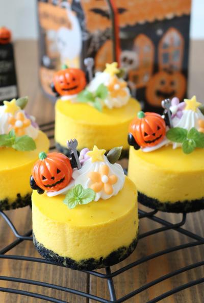 ハロウィン♪カボチャのなめらかニューヨークチーズケーキ