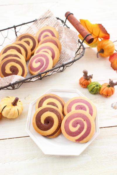ハロウィンのぐるぐるクッキー