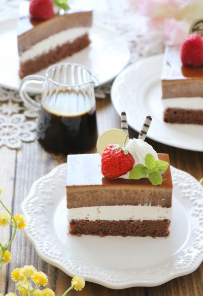 チョコプリンケーキ