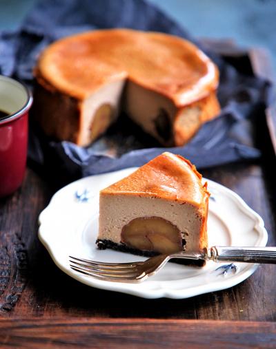 ♡混ぜて焼くだけ♡マロンチーズケーキ♡