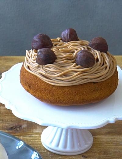 ホーロー容器で作れる!マロンのドームケーキ