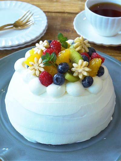 ホーロー容器で作れる!フルーツのドームケーキ