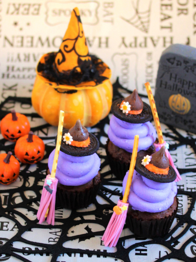 *ハロウィン♡魔女のカップケーキ♪