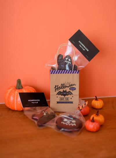 ハロウィンの焼き菓子にぴったりのラッピング♪