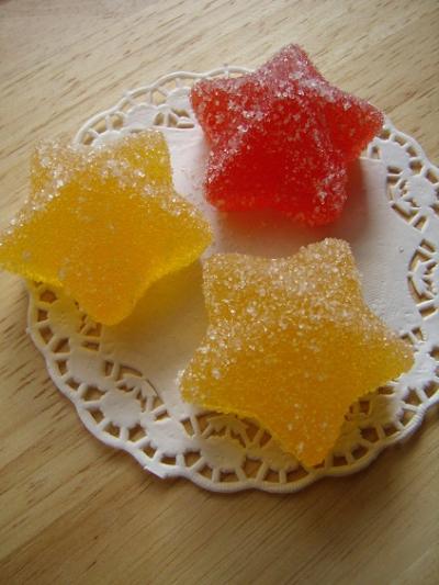 ☆キラキラお星さまのフルーツ寒天ゼリー菓子☆