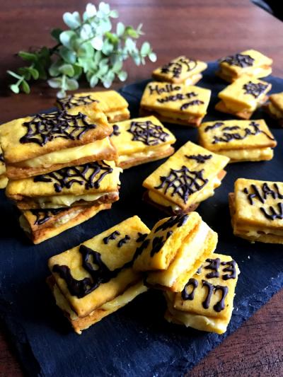 【簡単!】絶品!!かぼちゃのバターサンド
