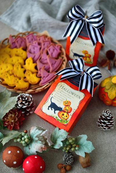 ハロウィン焼き菓子のラッピング
