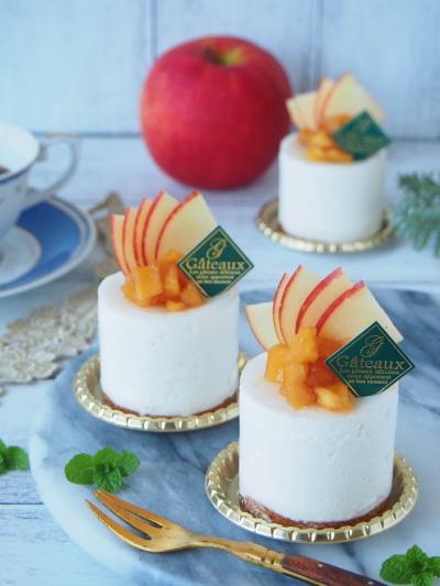 乳製品不使用★豆乳とリンゴのムースケーキ