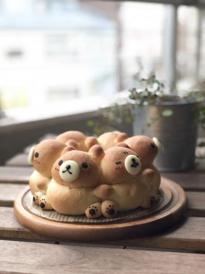 コンガリ☆くまさんの3Dちぎりパン