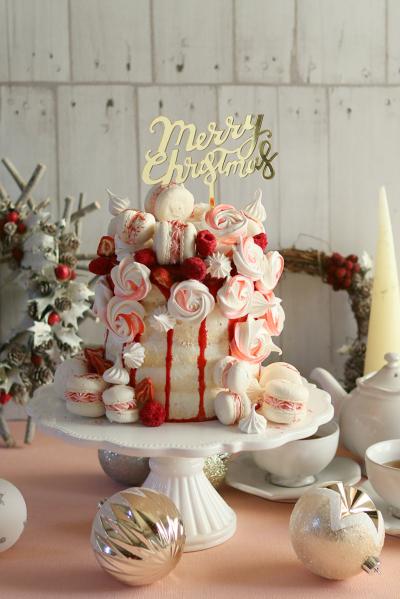 クリスマスネイキッドケーキ