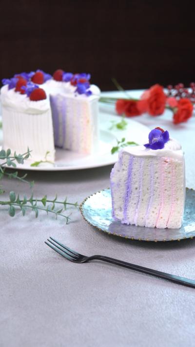 不思議な断面!! くるくるショートケーキ♪