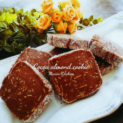 サクホロ♡ココアのアーモンドシュガークッキー♡