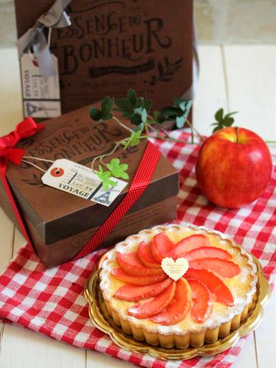 * 秋色 ♡ りんごのフランのラッピング♪