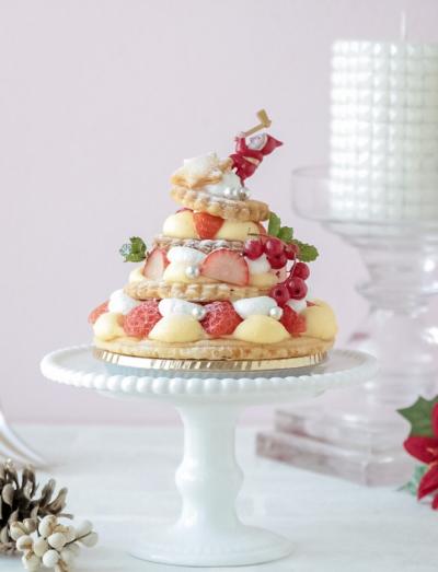 クリスマスに♪ 苺のミルフィーユツリー♪