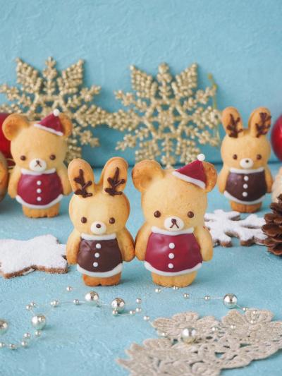うさぎとくまのクリスマスクッキー♡
