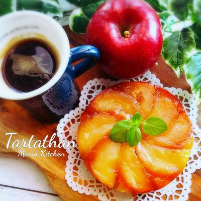 りんご1個で作る食べき切りサイズのタルトタタン♡