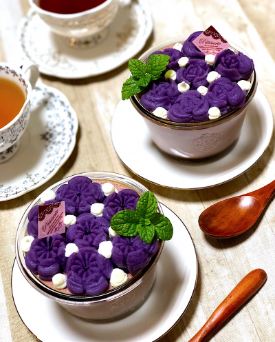 紫いものプリン♪