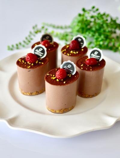 豆腐でヘルシーなチョコレアチーズカップ