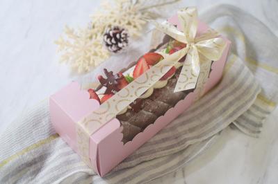 クリスマス★ロールケーキラッピング