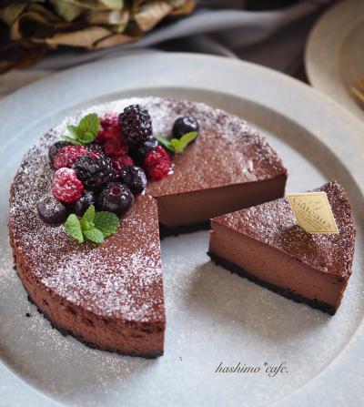混ぜるだけ簡単*濃厚チョコレートチーズケーキ