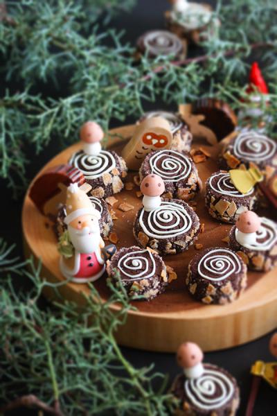 森の切り株クッキー