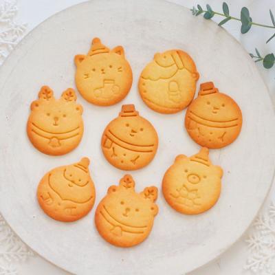 スタンプクッキー型に♪サクサククッキー生地