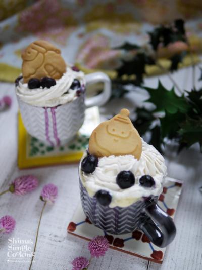 簡単!時短!クリスマス♡マグカップケーキ