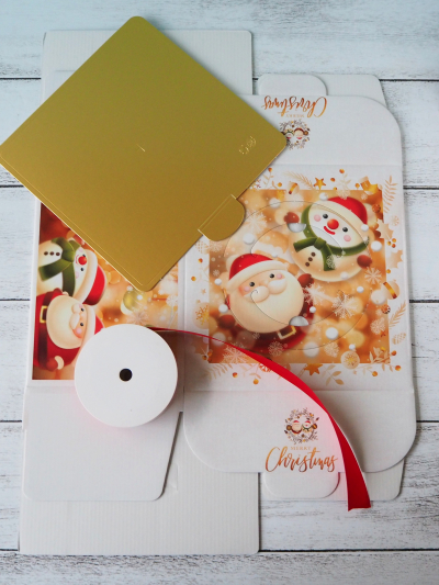クリスマスケーキのラッピング♡