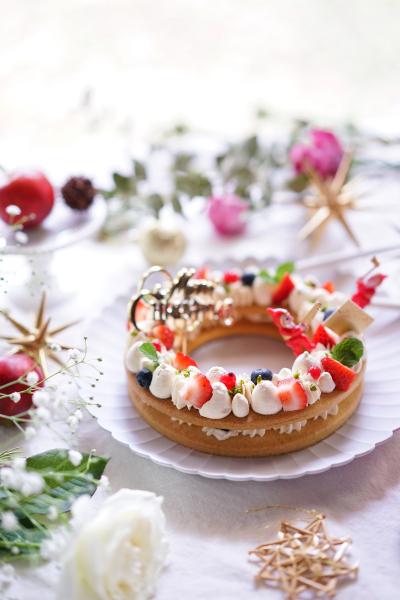 クリスマスのキャラメルリースクッキー