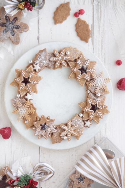 クリスマスリースのスペキュロスクッキー♪