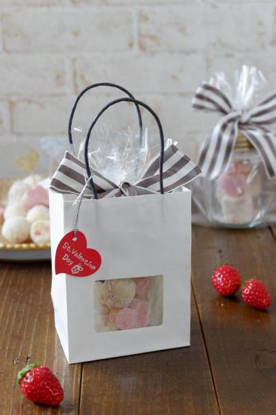 生チョコのバレンタインラッピング
