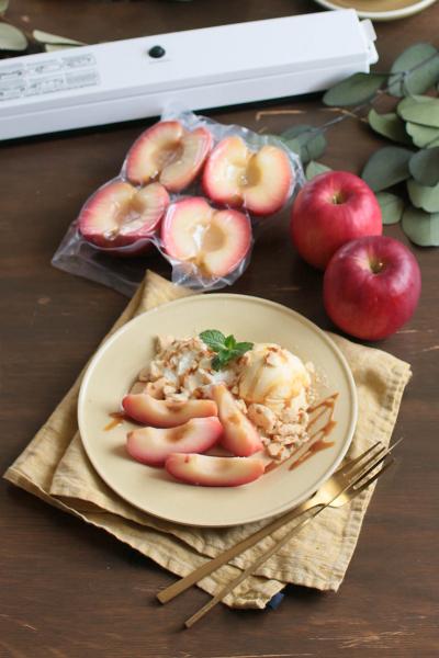 真空パックで作るリンゴのコンポート