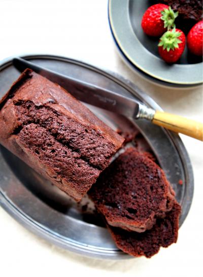 ♡ホットケーキミックスdeチョコレートパウンドケーキ♡