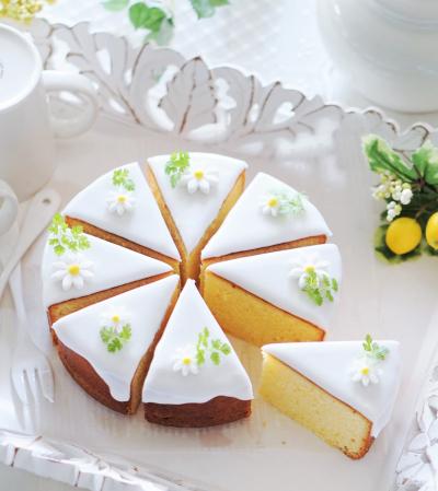丸型で焼くレモンケーキ