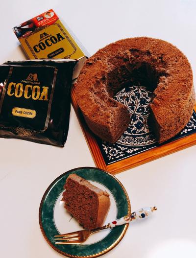 蜂蜜ココアシフォンケーキ