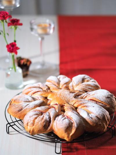 華やか雪の結晶パン