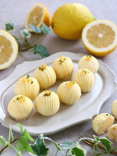 レモンとホワイトチョコのトリュフ